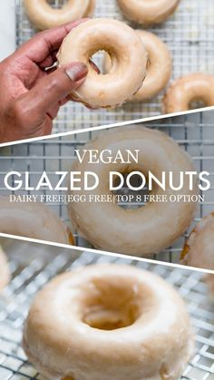 Glazed Vegan Donuts - Make It Dairy Free - treats - Paleo Donut, Easy Donut Recipe, Baked Donut Recipes, Gluten Free Vegan Donut Recipe, Dairy Free Donuts, Vegan Doughnuts, Dairy Free Treats, Dairy Free Cookies, Vegan Dessert Recipes