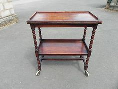 Solid Oak Tea Trolley/Games Table C.1930 | eBay