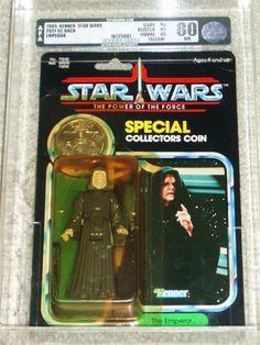 Vintage Star Wars 1985 EMPEROR AFA 80/85/85 POTF 92 Back KENNER Card MOC!