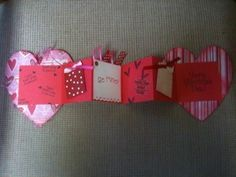 This is a fun Valentine to receive! I covered 2 cardboard hearts and went from there!