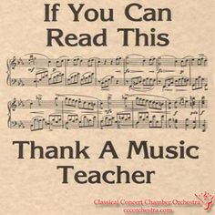 Thank you to my piano teacher because I know the piece on the image( it says if I can read it to thank a music teacher )! :) It's the third movement from Beethoven's Pathetique Piano Sonata. Sound Of Music, Music Is Life, My Music, Piano Lessons, Music Lessons, Guitar Lessons, Music Jokes, Funny Music, Band Jokes