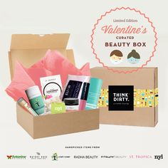 We are partnering with rated clean 0-3 beauty brand sponsors1who support our mission to bring the most requested beauty box to you. Each box comes with 8 hand-picked, rated clean beauty products, a full she-bang of Think Dirty swag goodies and lots of love. Valued at over $USD 180+, specially offered to you for $USD 95!    The Think Dirty Clean Beauty box is the perfect gift for health-conscious significant others, hard-core yogi friends, or kale-loving besties. Or better yet, show yourself…