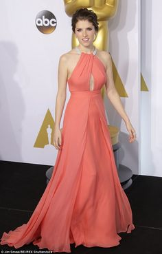 Disbelief: Anna Kendrick - pictured at the Academy Awards in 2015 - expressed her outrage that Mae Whitman was recast in Independence Day 2 on Tuesday