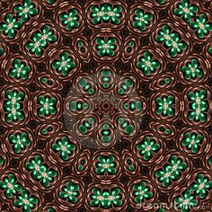 Hammered copper mandala by Patricia Fatta, via Dreamstime