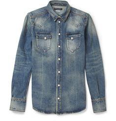 Dolce & GabbanaSlim-Fit Denim Shirt MR PORTER