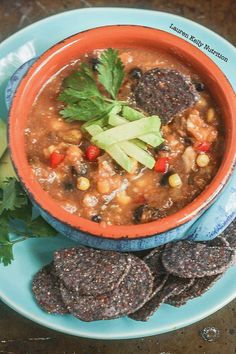 This Taco soup can be ready in under 30 minutes,! It's healthy, delicious, vegan and gluten free.  www.laurenkellynutrition.com