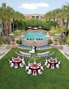 Gainey Suites Hotel, Scottsdale, Arizona - Select from the Gainey Ballroom, intimate Hearth Room or palm-lined Terrace Lawn. Intimate boutique hotel for ceremony, reception and guest accommodations.