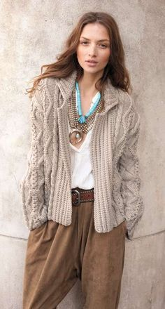 Chunky cables // Cardigan