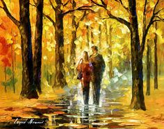 """""""Happy couple"""" by Leonid Afremov ___________________________ Click on the image to buy this painting ___________________________ #art #painting #afremov #wallart #walldecor #fineart #beautiful #homedecor #design"""