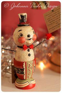 Johanna-Parker-Noel-Snowman by Johanna Parker Design, via Flickr