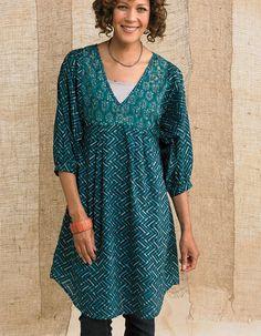 Ladies Italian Linen Spotty Baggy Tunic Top Classic Handkerchief Hemline Dress