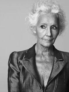 Françoise de Stael. She is rocking that gray hair.