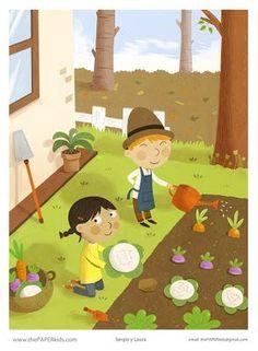 El huerto escolar http://anashadya.blogspot.com.es/2013/03/el-huerto-escolar-como-una-actividad-en.html