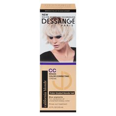 This color-correcting creme, exclusive to Target, is a dream for all of the color-treated blondes out there. Formulated with linseed oil and blue pigments, it helps nourish and protect hair color. Color Rinse, Bleach Blonde Hair, Blue Pigment, Blonde Color, Cool Hair Color, Protective Hairstyles, Color Correction, Brass Color, Paris