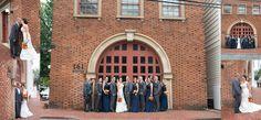 Historic firehouse Annapolis Wedding Photographer Carla Lutz Photography Port Annapolis Red Navy Orange Maryland Crab Nautical Wedding