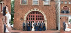 Historic firehouse Annapolis Wedding Photographer Carla Lutz Photography Port Annapolis Red Navy Orange Maryland Crab Nautical Wedding