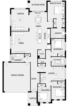 1000 Images About Floor Plans On Pinterest New Homes