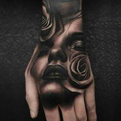 "sleevetattoosforwomen: "" ""Fool's Gold""- Color tattoo by Megan Jean Morris. 3d Tattoos, Badass Tattoos, Skull Tattoos, Rose Tattoos, Body Art Tattoos, Girl Tattoos, Sleeve Tattoos, Hand Tattoos For Guys, Tattoos For Women"