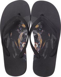 Givenchy Rottweiler-Print Flip Flops - Sandals - Barneys.com