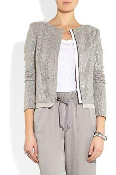 Diane von Furstenberg Tamali sequined silk-blend jacket NET-A-PORTER.COM