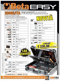 Valigia portautensili Beta per manutenzioni universali 2056E/ITA con assortimento di 144 utensili. QUALITA' E CONVENIENZA IN VIAGGIO CON TE.