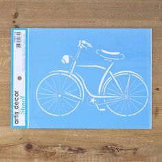 Stencil bicicleta vintage / EstampoShop