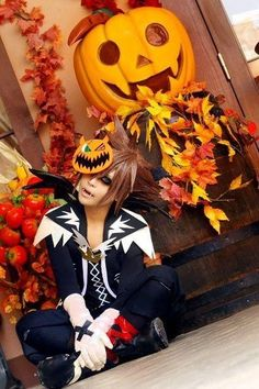 Sora Halloween Town - I love this 500 times over. Cosplay Boy, Cosplay Outfits, Cosplay Costumes, Disney Cosplay, Cosplay Ideas, Kingdom Hearts Cosplay, Sora Kingdom Hearts, Halloween Town, Halloween Cosplay