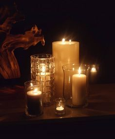 Glass and candles