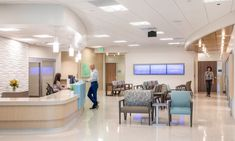 Hunt Cancer Center Consolidates Cancer Treatment Services into 1 Patient-Centered Environment Genetic Counseling, Hospital Design, Clinical Research, Building Companies, Healthcare Design, Garage Design, Cancer Treatment, Medical Center, Second Floor