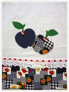 Patch Quilt, Handmade Crafts, Diy And Crafts, Picture Ornaments, Simple Rangoli Designs Images, Farm Crafts, Hand Applique, Ribbon Embroidery, Dish Towels