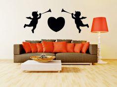 Valentine Baby Couple Design Black Wall Sticker