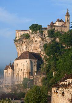 France. Rocamadour - Temple over the town - Templom a város felett