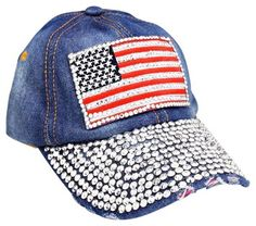 USA American Flag Bling Bling Crystal Distressed Denim Baseball Cap. Get the lowest price on USA American Flag Bling Bling Crystal Distressed Denim Baseball Cap and other fabulous designer clothing and accessories! Shop Tradesy now