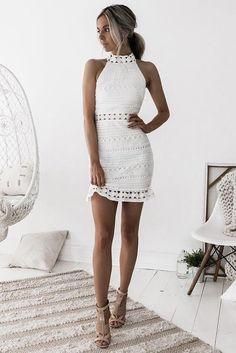 Rivers Dress - White