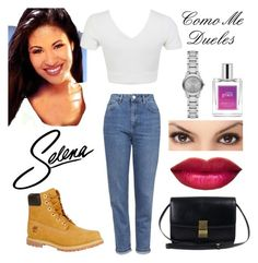 """""""Selena Quintanilla R.I.P. 1971-1995"""" by lushbabygirl ❤ liked on Polyvore featuring beauty, Topshop, Miss Selfridge, Timberland, philosophy and Burberry"""