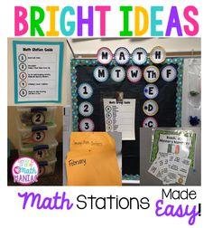 Bright Ideas: Organizing Math Stations - Second Grade Math Maniac