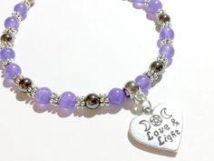 Gemstone Bracelet, WIccan Bracelet, Pagan Jewelry, Quartz Bracelet, Hematite Bracelet, New Age Jewelry, Occult Bracelet, Goddess Bracelet by MoonMajickStudio on Etsy