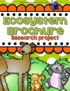 Students create an brochure to advertise the ecosystem of their choice. What it may be...the tundra, the rainforest, the desert...is up to the student (or you can choose for them)! I love this project each and every year! My students research and complete this entirely at school.