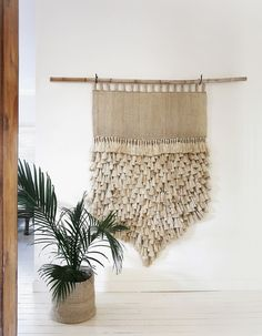 Jumbo Jute Macrame Wall Hanging with Tassels - Natural