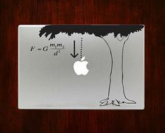 Newton Law of Gravity m767 Design Decal Sticker by DecalOnTop