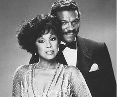 Carroll with Billy Dee Williams, both mature images of sophistication, wealth, and power in Dynasty.