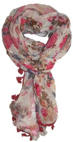 LibbySue-Sheer Floral Scarf with Tassels in Earthy Colors in Pink LibbySue,http://www.amazon.com/dp/B00B0CVEXE/ref=cm_sw_r_pi_dp_TbZxrb34F60A46AE