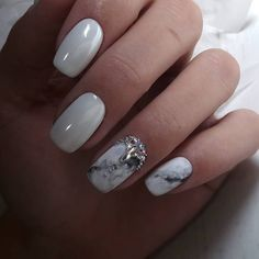 Perfect Bridal Nails Art Designs ★ See more: www. Bridal Nails Designs, Bridal Nail Art, Marble Nail Designs, Nail Art Designs, Coffin Nails, Acrylic Nails, Cute Girls Hairstyles, Nail Envy, Marble Nails