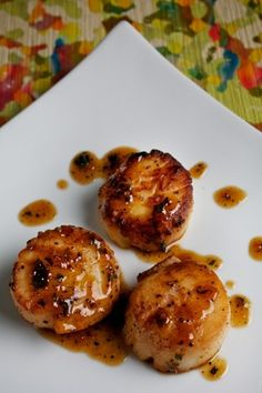 Seared Scallops With Herbed Apricot Sauce Recipe (and is actually pretty easy to make!)