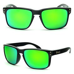 ebaf5669d9 BNUS Italy made Classic Sunglasses Corning Real Glass Lens w. Polarized  Option Frame  Black Green Flash     More info could be found at the image  url.