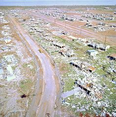 Devastation brought by Cyclone Tracy upon the Northern Territory city of Darwin. Courtesy – National Archives of Australia A6135, K29/1/75/16