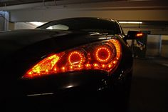 Amber turn signal mode in Switchback LED Dual Projector Retrofit Hyundai Genesis Coupe headlights by FlyRyde