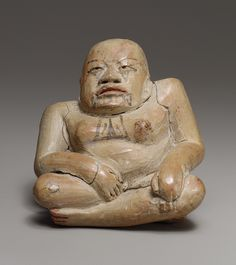 Hunchback, 12th–9th century b.c. Mexico; Olmec Ceramic, pigment