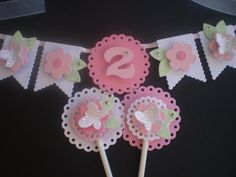Butterfly Cake Bunting by SweetTashie on Etsy, $12.00