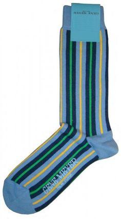 Comfy Socks - Gene Meyer Socks in Blue/Green @ KJ Beckett #mens #socks